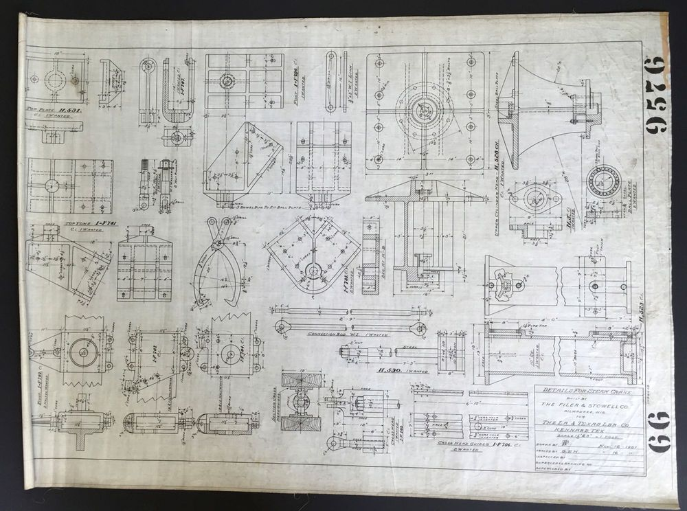 Louisiana texas lumber co orig blueprint drawing steam crane louisiana texas lumber co orig blueprint drawing steam crane details 1901antique blueprint malvernweather Choice Image