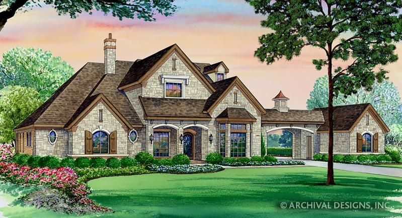 European House Plans With Porte Cochere on a budget
