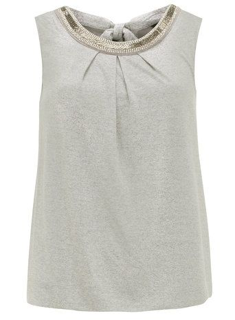 Silver Embellished Bubble Top