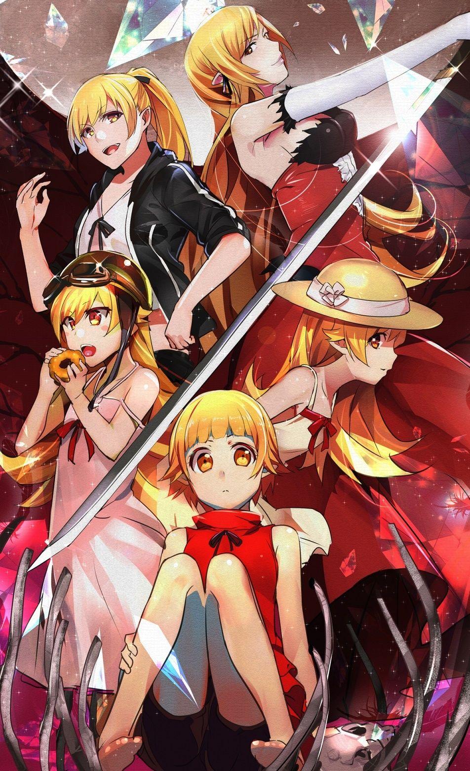 Shinobu Kiss Shot Anime Anime Shinobu Oshino Anime Art