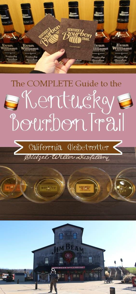 The COMPLETE Guide to the Kentucky Bourbon Trail - Jim Beam Distillery- Evan Williams Distillery, Buffalo Trace, Maker's Mark, Bulleit-Stilzer-Weller - Heaven's Hill - Town Branch - Woodfood Reserve - Four Roses - Kentucky #travelnorthamerica