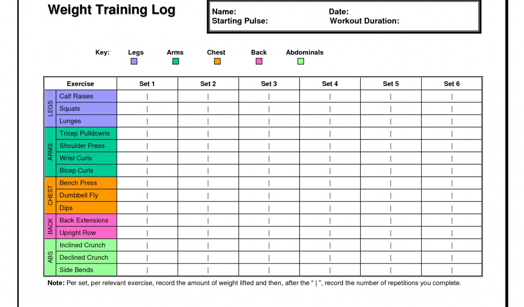 weight training log template.html