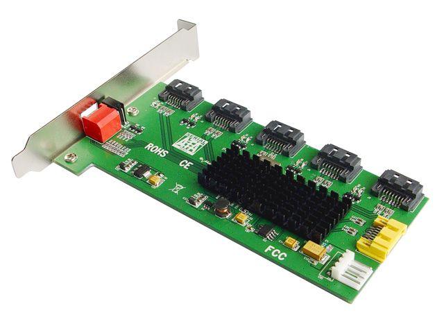 PM Internal SATA II Port Multiplier 5x1 1:5 Dip Switch RAID Bracket Mounting