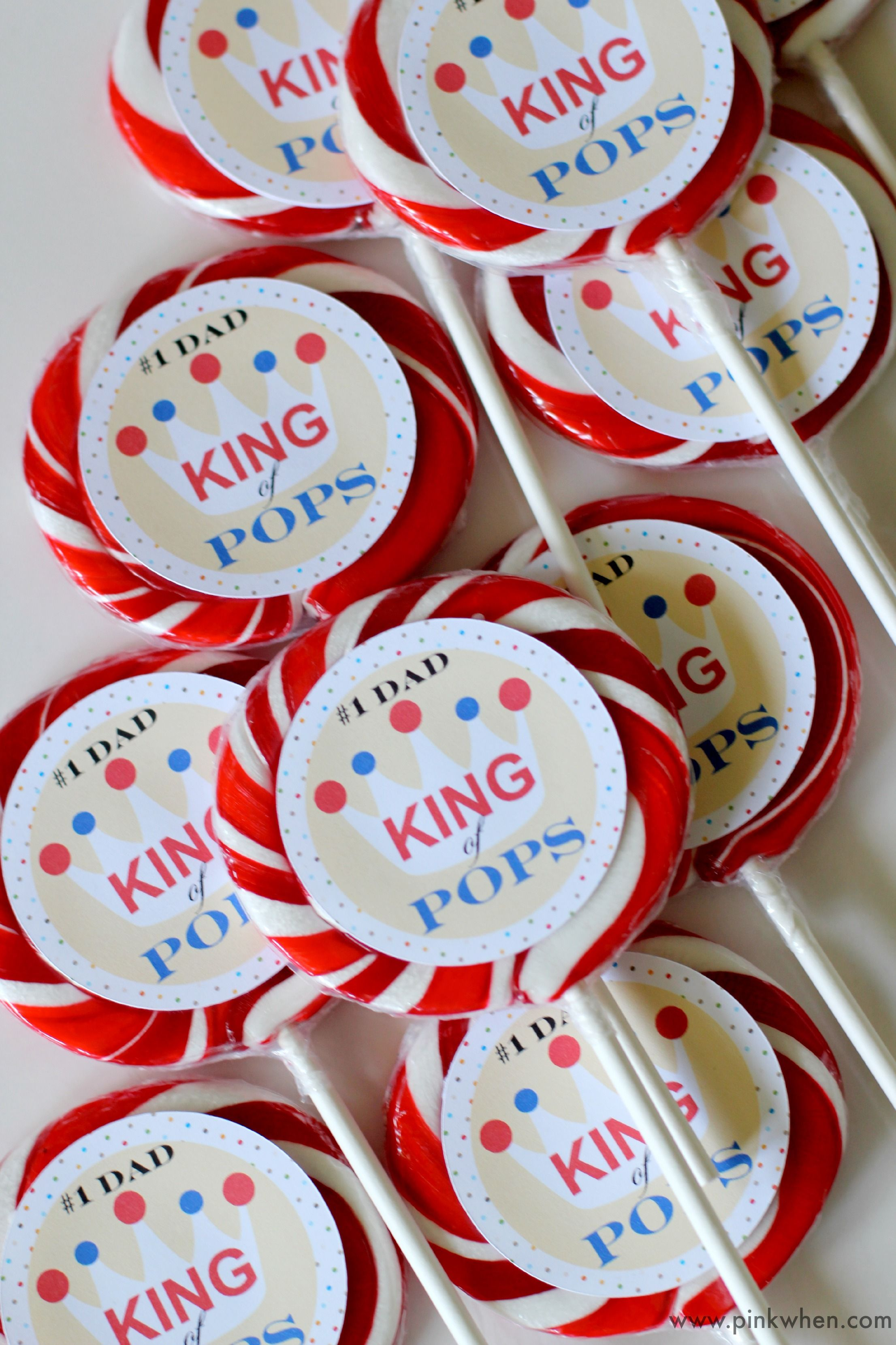 A fun and free Father's Day Printable for #1 Dad, the King of Pops!