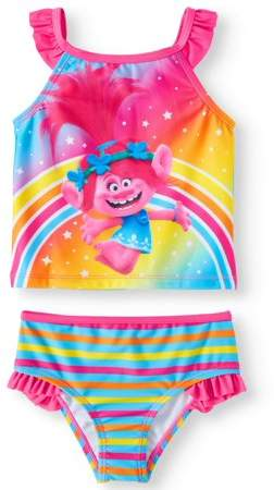 deb6e11c4e Trolls Ruffle Tankini (Toddler Girls) in 2019 | Adorable Lil Tots ...