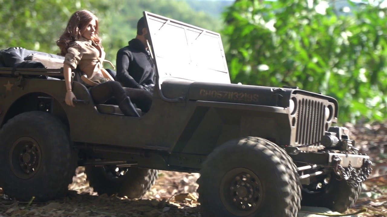 1/6 Scale Jeep Willys │ U.S 1/4 Ton 4x4 Truck │Off-road ...