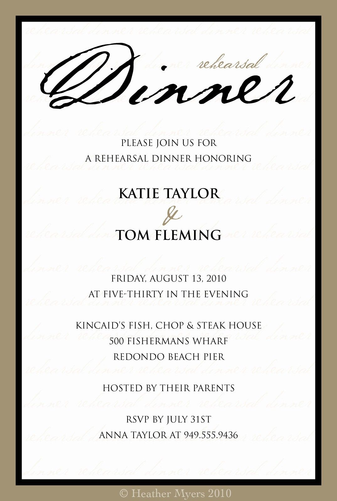 Dinner Invitation Template Free Printable Unique 5 Best Of Dinner