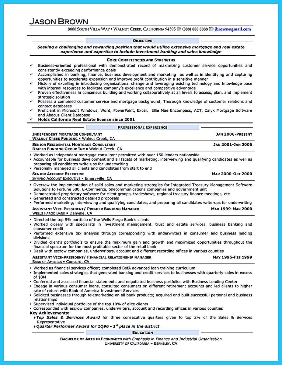 Awesome One Of Recommended Banking Resume Examples To Learn Check