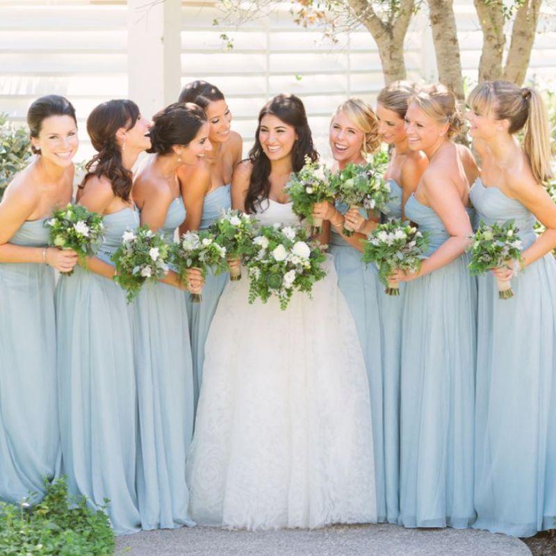 Damas de honor en color #Aquiamarine #Bridesmaid #dress #Wedding ...