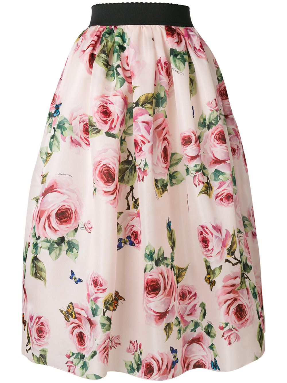 183e8e27a Dolce & Gabbana rose print full skirt | Saias/ Skirts II in 2019 ...