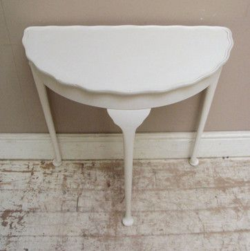 Vintage Half Moon Table Traditional Side Tables And Accent Tables