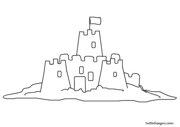 Castello Di Sabbia Da Colorare Tutto Disegnicom Colori