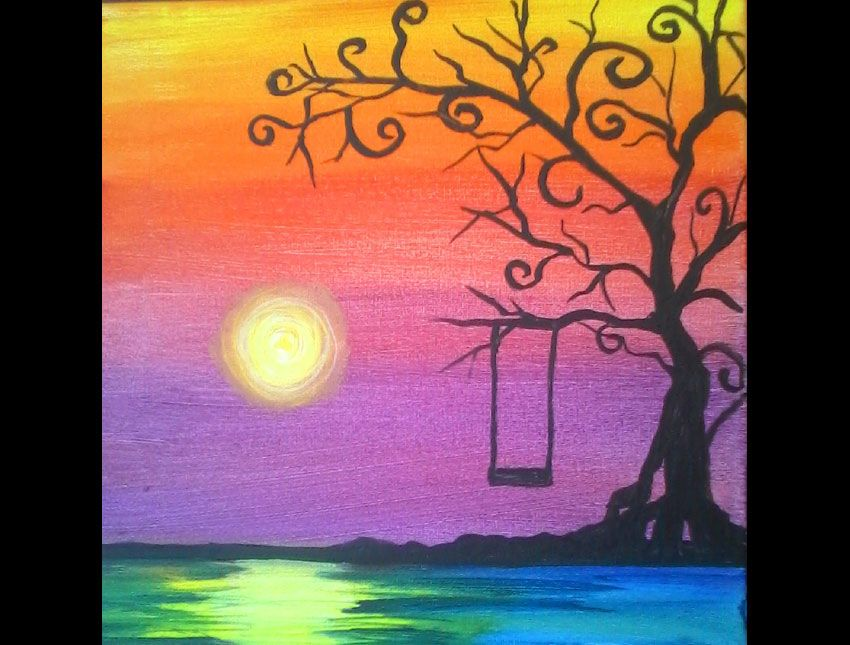 Image Result For Paint And Sip Painting Ideas Canvas Art Projects Painting Wine Painting