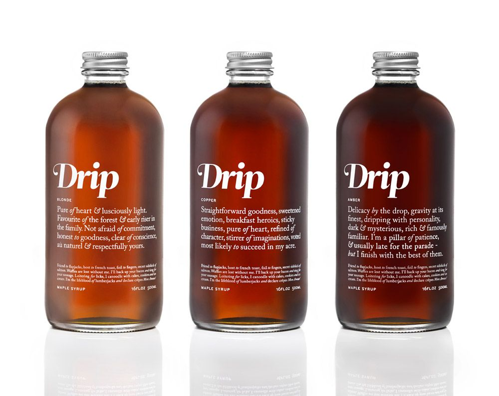 Drip Maple Syrup Bottle Bottle Coffee Packaging