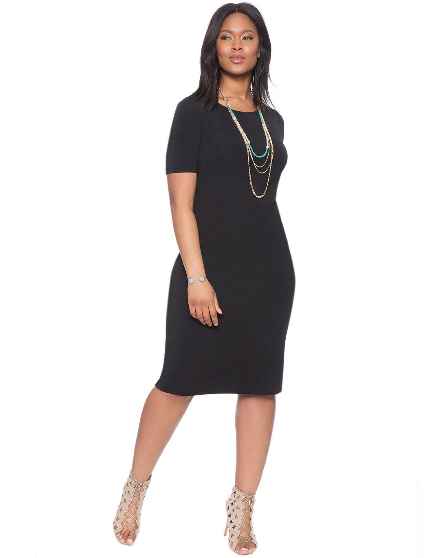 Scoop Neck Column Dress   Women\'s Plus Size Dresses   Ruffle ...
