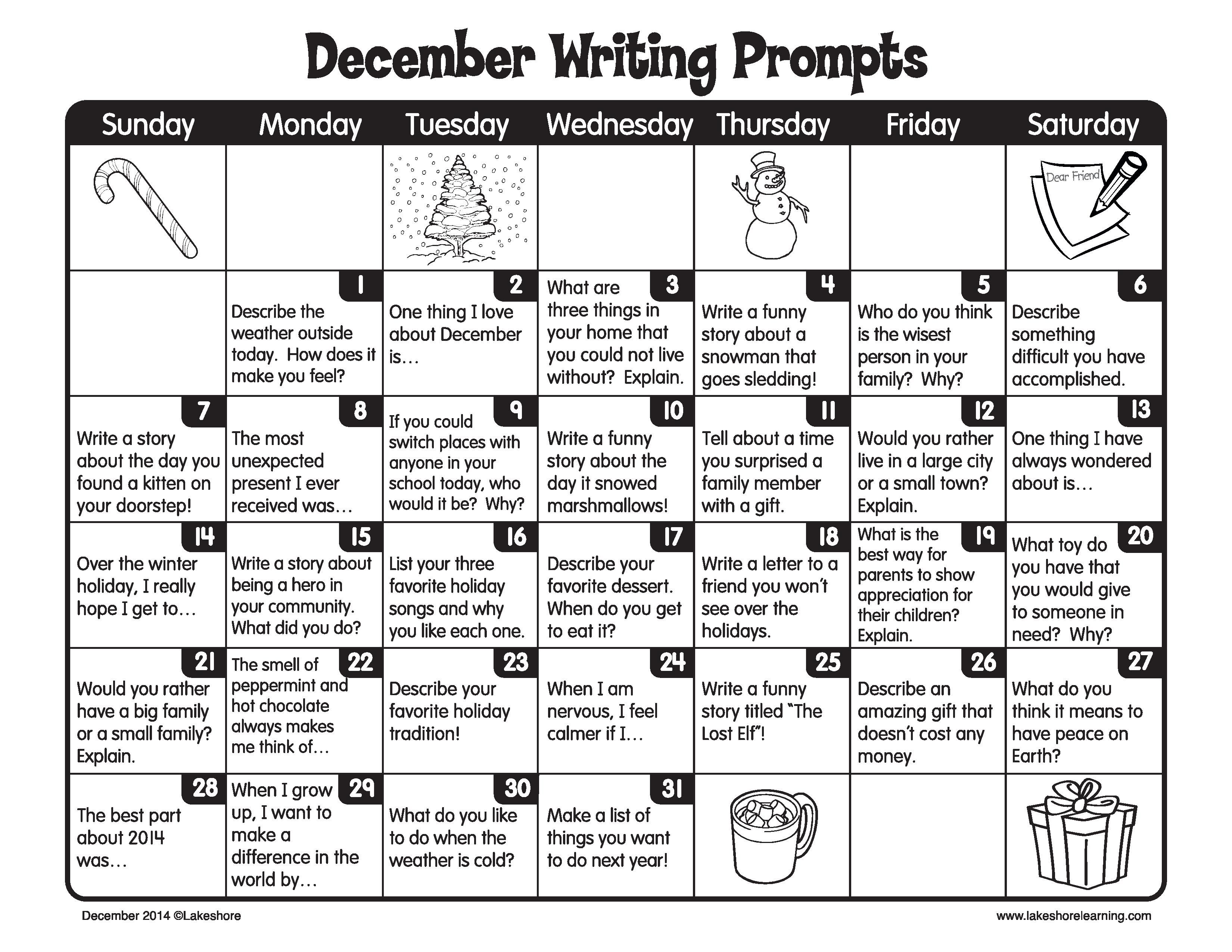 December Is A Great Time For Kids To Get Creative And Write Every Day