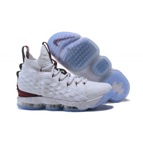 e163e3fedb9e Cheap 2017 Men Nike Lebron 15 Basketball Shoes White Red