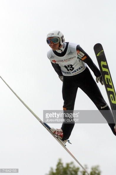 Slovakian Urbanc Rok jumps during the summer SkiJumping World Cup in Courchevel 14 August 2006 Seven stages comprise the summer skijumping World Cup...