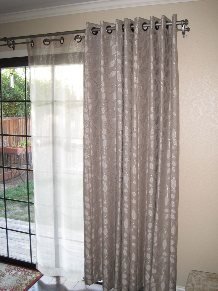 French doors with double rod drapery google search - Curtain options for sliding glass doors ...
