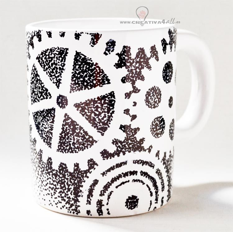 TAZA PERSONALIZADA ENGRANAJES - Mug gears with Sharpies