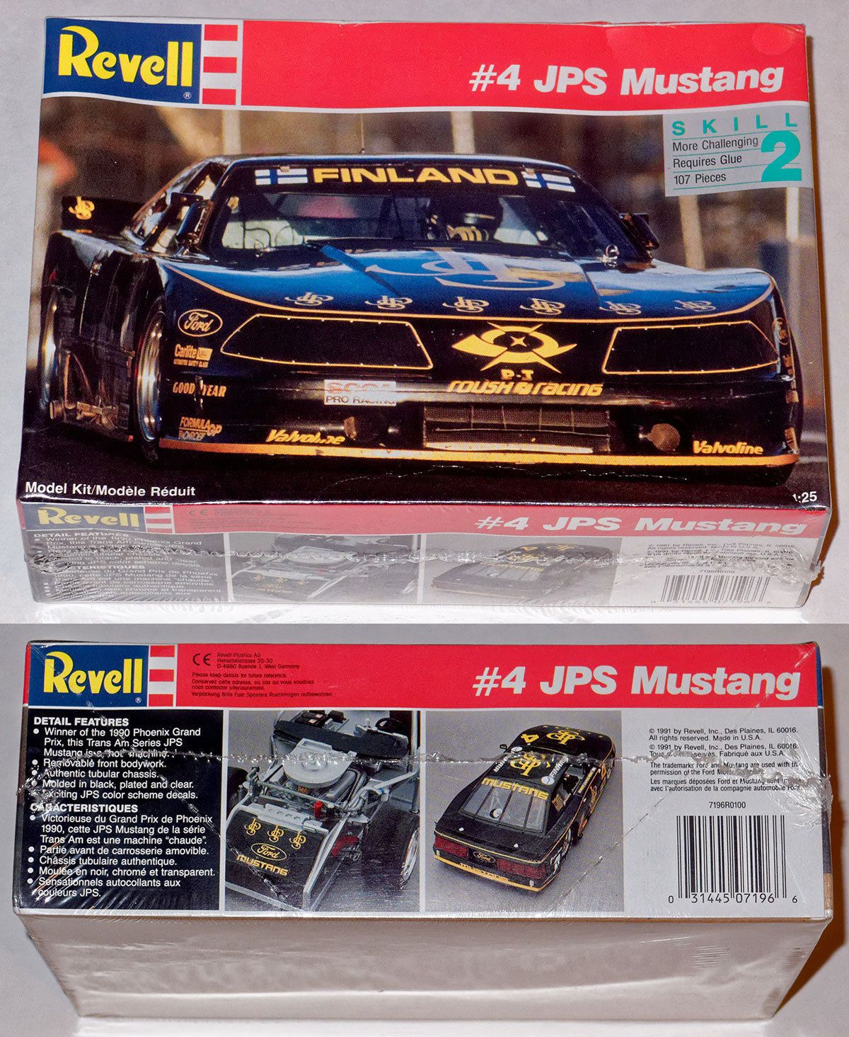 1 25 scale 145975 revell 1 25 4 jps mustang trans am series 1 25 scale 145975 revell 1 25 4 jps mustang trans am series racer sciox Gallery