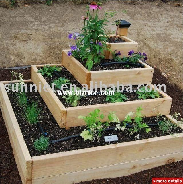 Rectangle Raised Flower Box Planter Bed 2 Tier Soil Pots: Flowers In A Raised Bed - Google Search