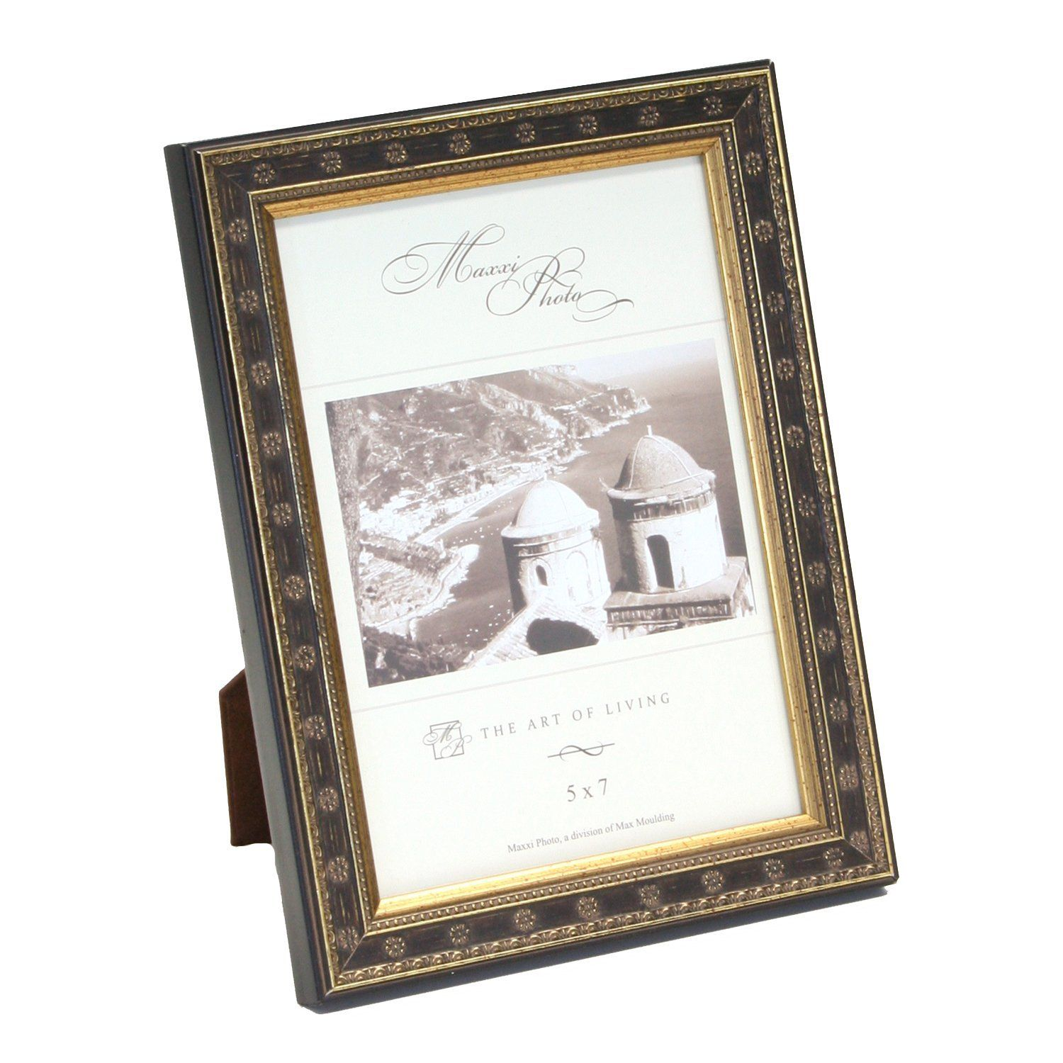 Maxxi Designs Photo Frame with Easel Back, 4 x 6\', Antique Gold Leaf ...
