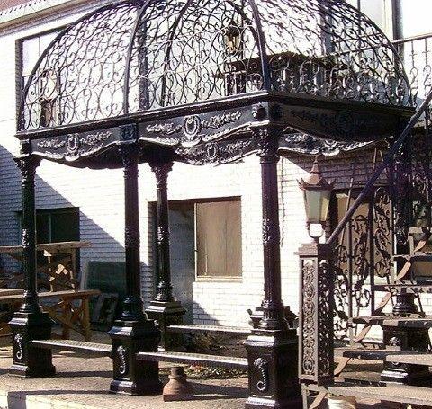 Pergola de hierro forjado buscar con google jardin for Pergolas de hierro para jardin