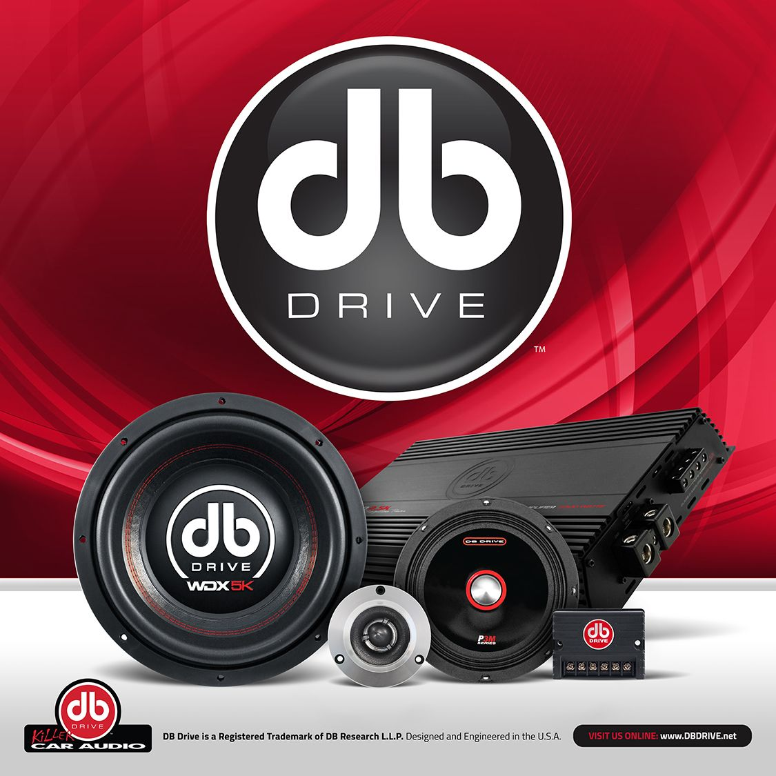 db drive killer car audio db research advertisement. Black Bedroom Furniture Sets. Home Design Ideas