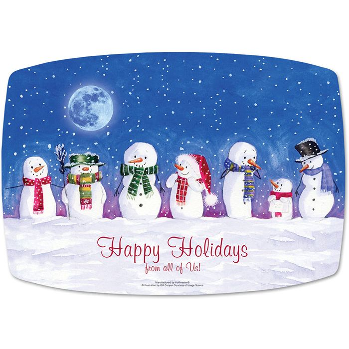 Wholesale Snowman Greetings Placemats 1000 Ct Napkins Com Great For Christmas And Holiday Season Holiday Paper Placemats Happy Holidays