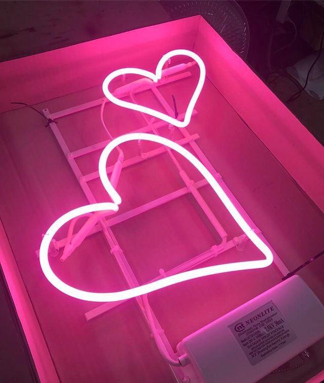 #neon #aesthetics #aesthetic #color #light #depe #heart ...