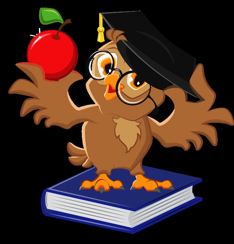 LunaPic Edit Owl cartoon, Book clip art, Owl school