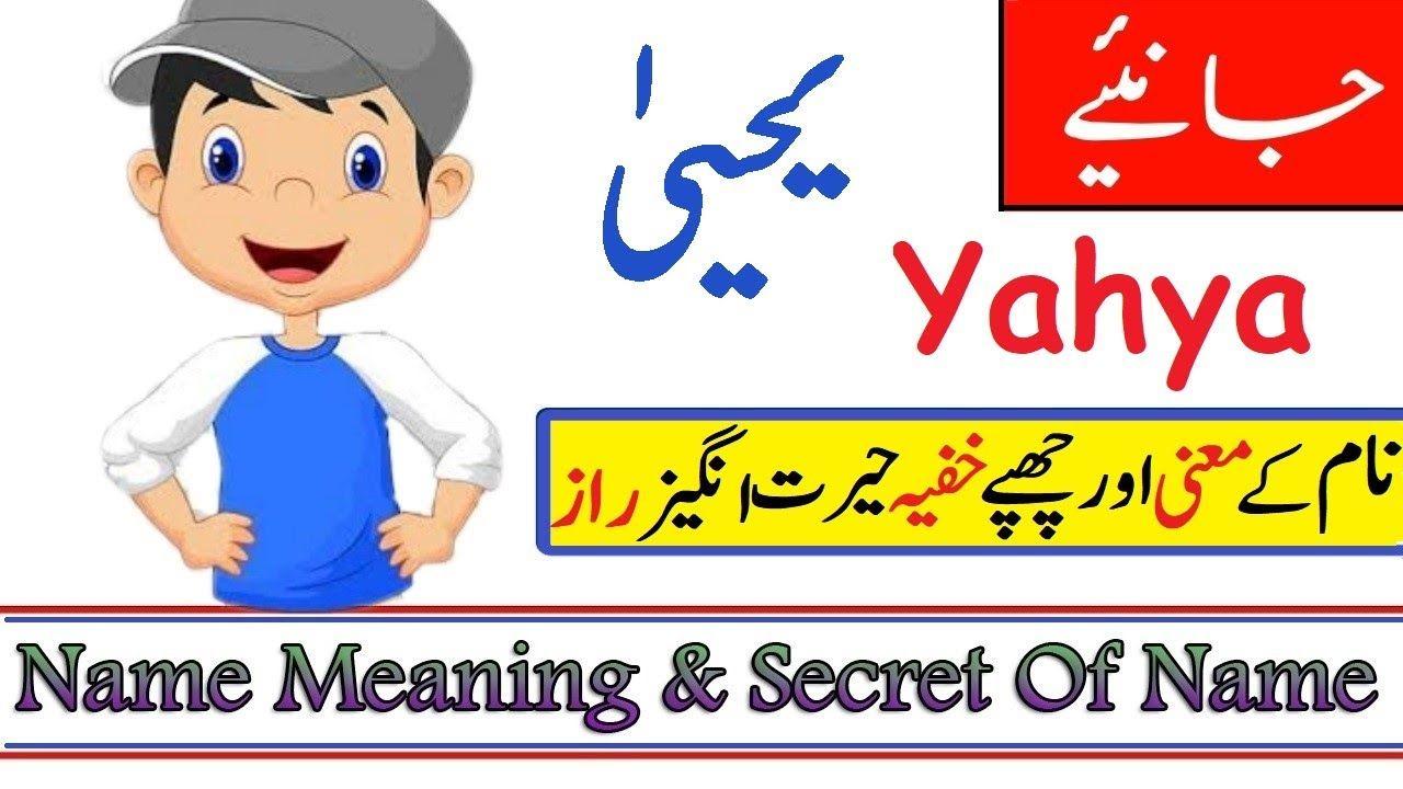 Yahya Name Meaning In Urdu Boy Name یحیی Names With Meaning Boy Names Muslim Boy Names
