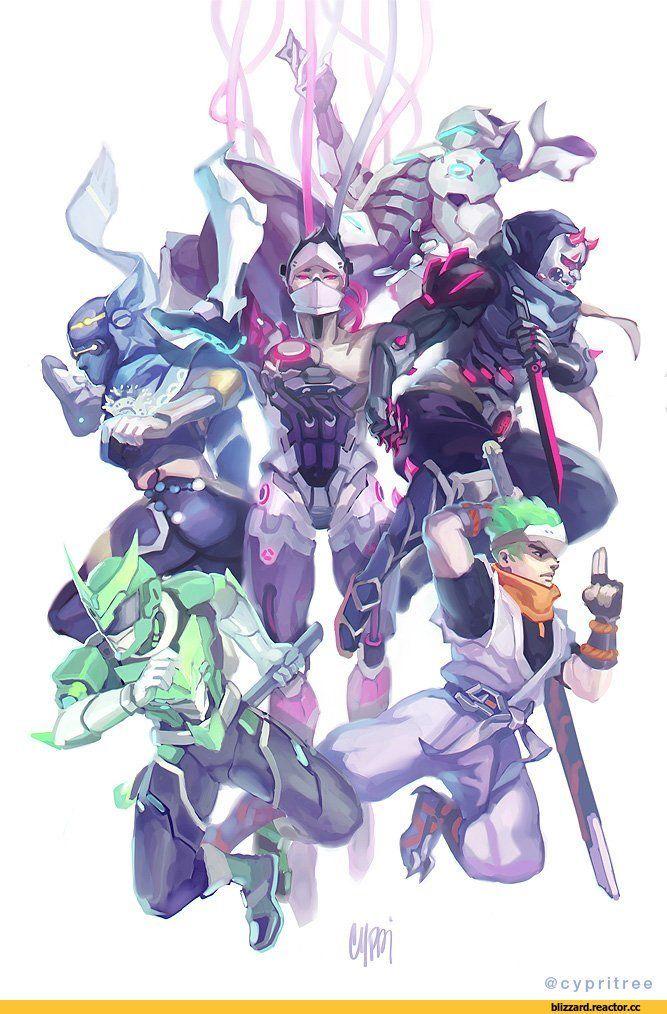 Blizzard-фэндомы-Genji-(Overwatch)-Overwatch-3863883.jpeg (667×1000)