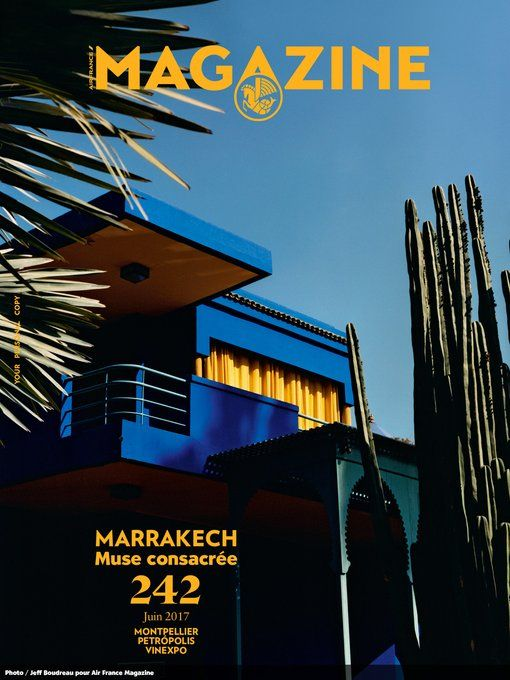 Air France Magazine x El jardin majorelle | Layout design ...
