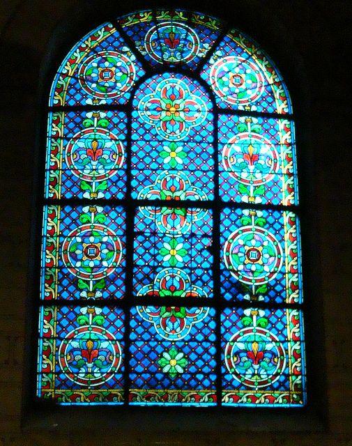 Paris, Stained Glass Window, Eglise St-Germain-des-Pres