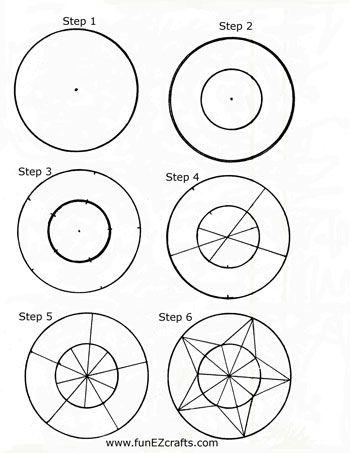 Fácil de papel artesanato de cinco pontos estrela de seis como fazer passos