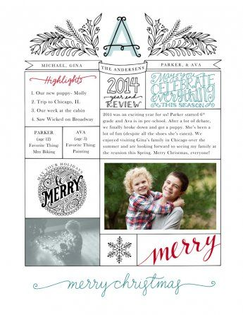 Year in Review Newsletter template by Jamie Schultz Designs All - holiday newsletter template