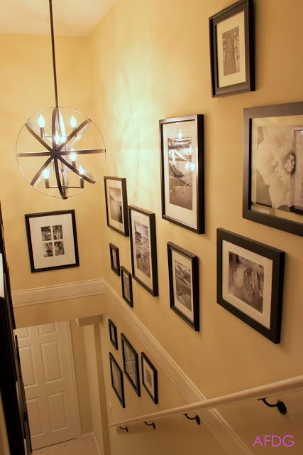 AMANDA FORREST INTERIOR DESIGN GROUP: How to display a Stairwell Gallery