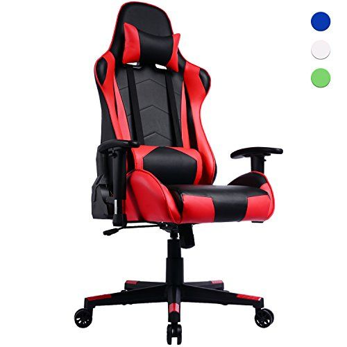 Prime Selection Products Fauteuil Gamer A Dossier Inclinable Chaise De Bureau Gaming Siege Sport Racing Pu Leather Chair Gaming Chair Leather Chair