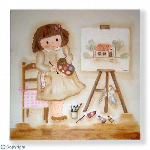 Cuadro infantil personalizado: Me gusta pintar (ref. 17006-01)