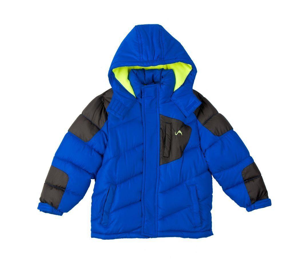 Vertical 9 Little Boys Insulated Puffer Hooded Ski Jacket Coat 5 6 Weatherproof Zip Front With Velcro Closure Over Zipper Ski Jacket Jackets Coats Jackets [ 945 x 1077 Pixel ]