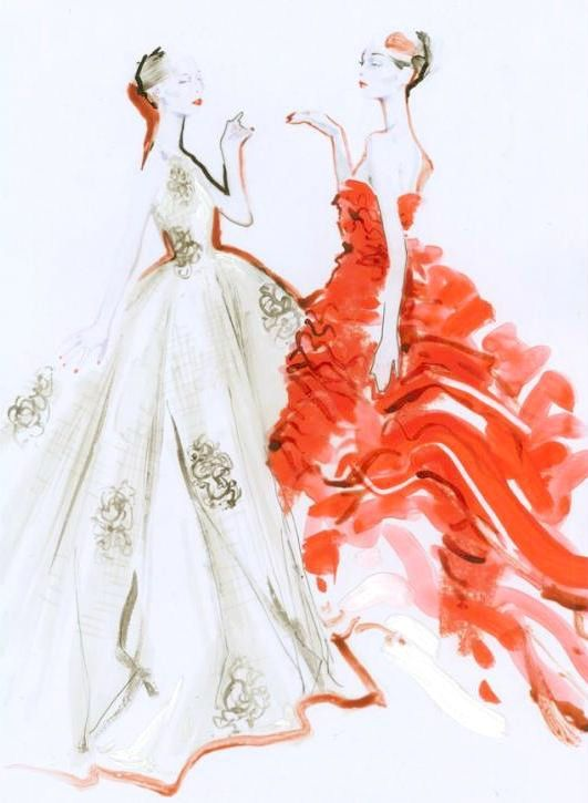 Sketch for Christian Dior haute couture