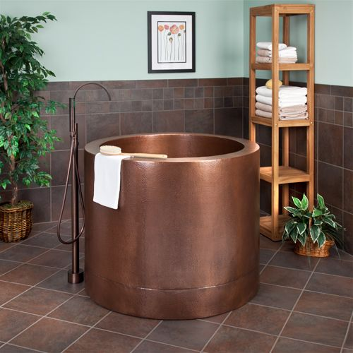copper japanese soaking tub. Frederic Hammered Copper Japanese Style Soaking Tub  Cottage Chic