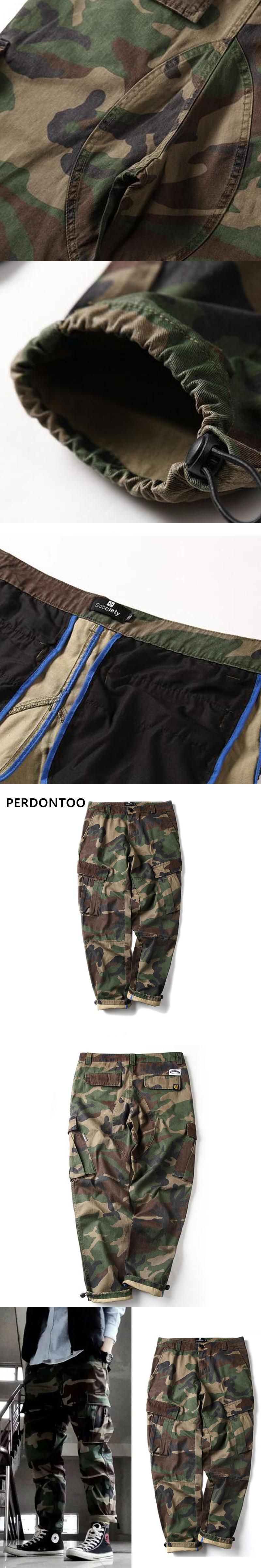 1474d89d34c 2017 Newest Fashion Camouflage Men s Cargo Joggers Pants Military For Men  Multi Pocket Overalls Tactical Army