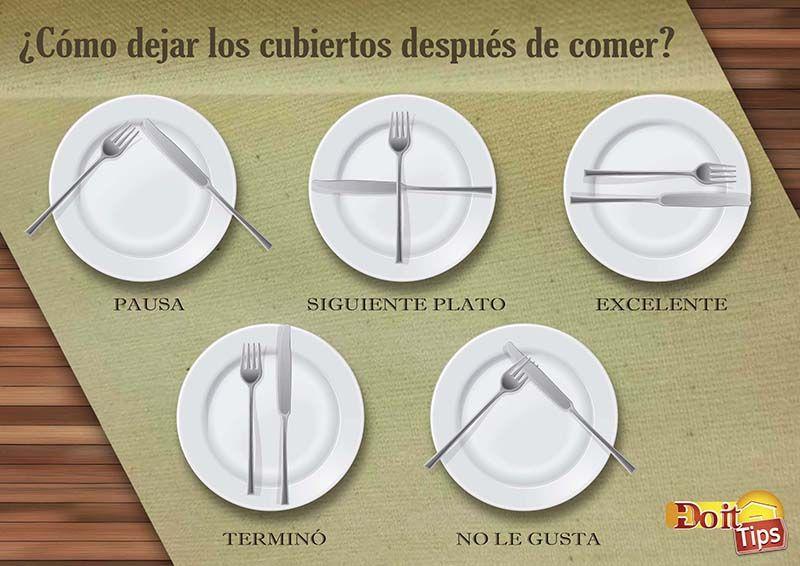 Este Doittip Es Importante Tenerlo En Cuenta Después De Una Cena Interesante Etiqueta Buenosmodales Cubiertos Plates Cooking Tips Tableware