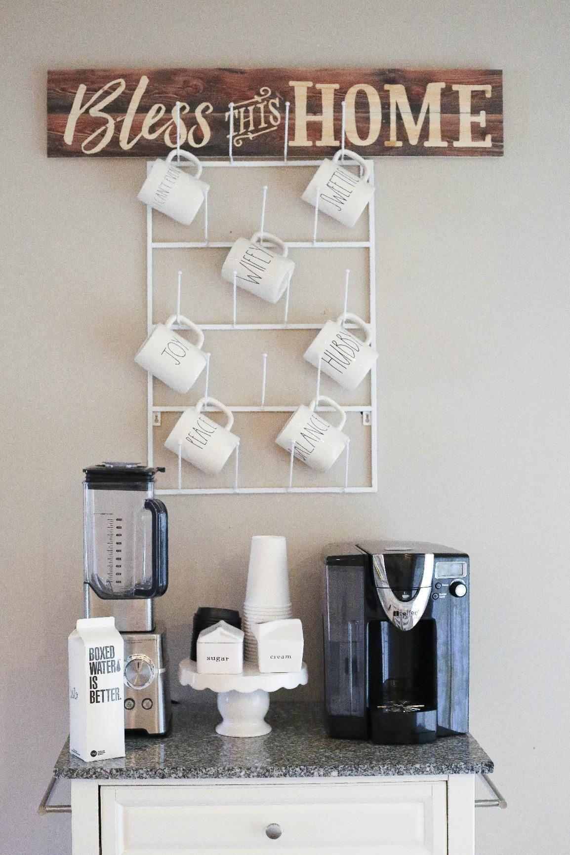Amazon Com 5 Tier White Metal Wall Mounted Kitchen Mug Hook Display X2f Cup Storage Organizer Hanger Rack Mygift Coffee Mug Holder Hanger Rack Diy Holder