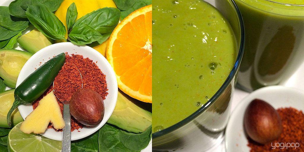 green smoothie with ground avocado stone | Flickr - Photo Sharing! #yogipop #smoothmorning