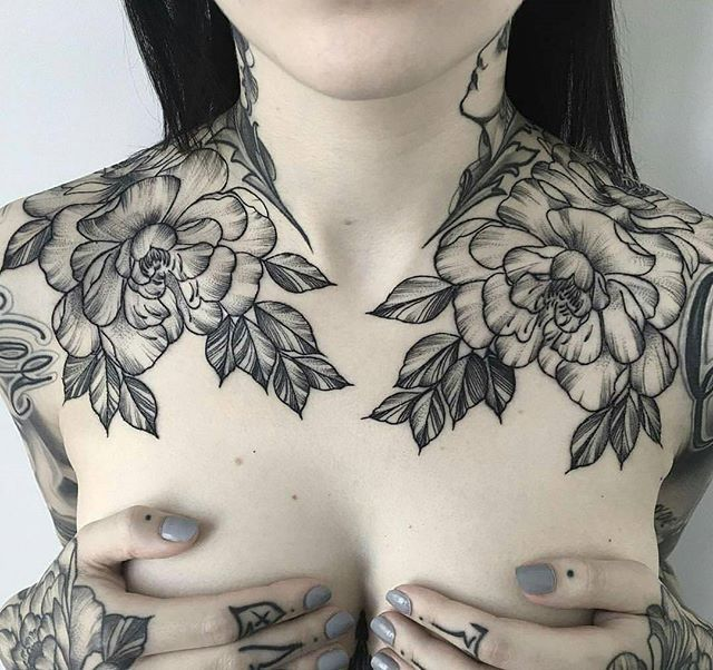 i like how it wraps around the shoulders and neck art \ tattoo