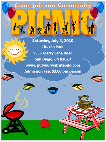 Picnic Flyer Template Fundraising Flyer Free Free Flyer